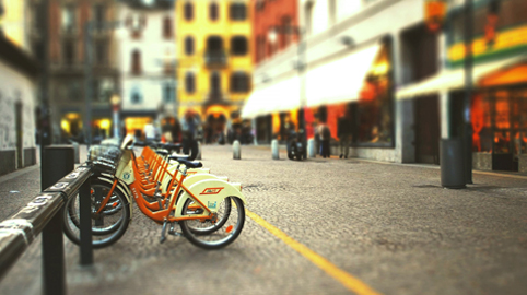como estacionar bicicleta